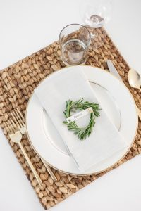 DIY-Crafts-and-DIY-Place-card-settings-for-the-Holidays-using-Rosemary-gold-silverware