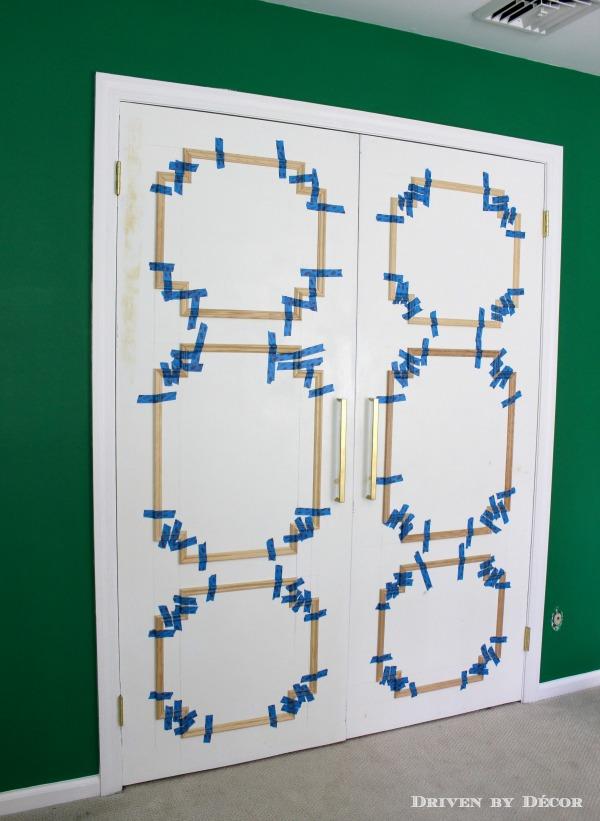 molding added to flat closet doors in progress 600